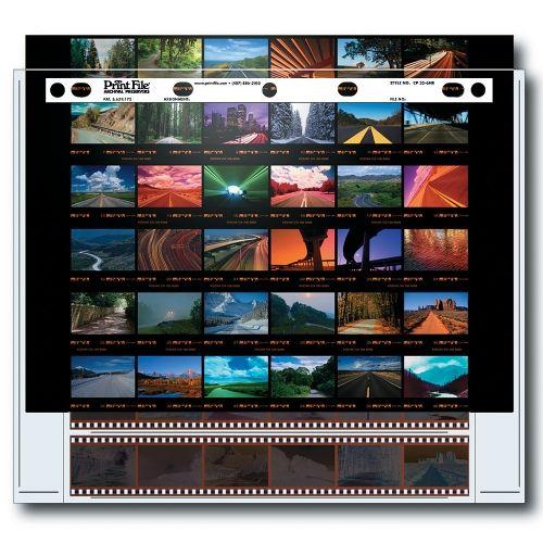Print File Negatiefbladen 35mm Film 6x6 + contactafdruk - Polyethyleen - 25 stuks
