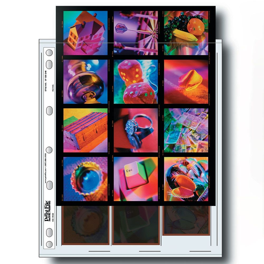 Print File Negative Storage Pages 120 Film 3x6x6cm + contact print - Polyethylene - 25 pcs
