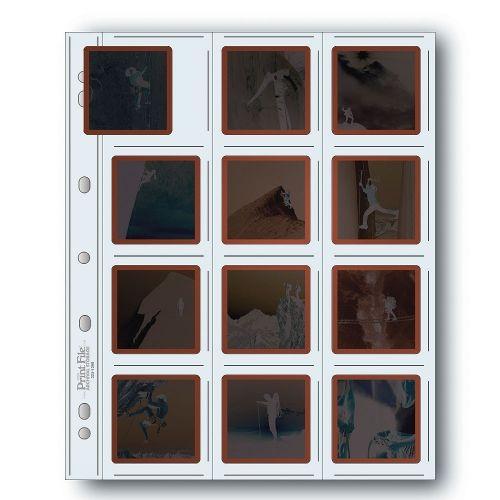 Print File Slide Storage Pages 120 Film 12x6x6cm - Polyethylene - 100 pcs