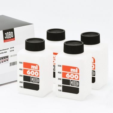 Jobo 3310 Bouteilles de stockage à l'échelle pour Chimie (4x600ml)
