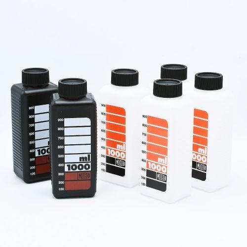 Jobo 3300 Geschaalde Opslagflessen voor Chemie (6x1000ml)