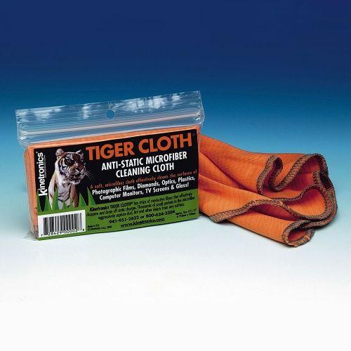 Kinetronics Tiger Chiffon de Nettoyage Antistatique en Microfibres / Orange - 20x20cm