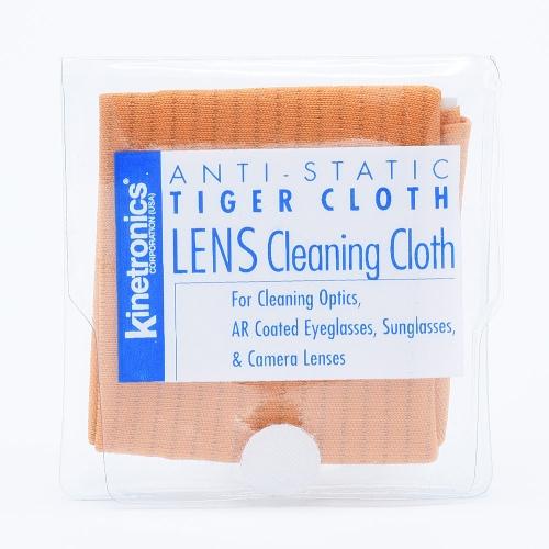 Kinetronics Tiger Antistatische Microvezel Reinigingsdoek / Oranje - 20x20cm
