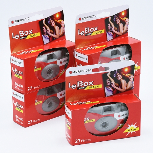 AgfaPhoto LeBox Flash Wegwerpcamera / 27 opnames - 10-pak