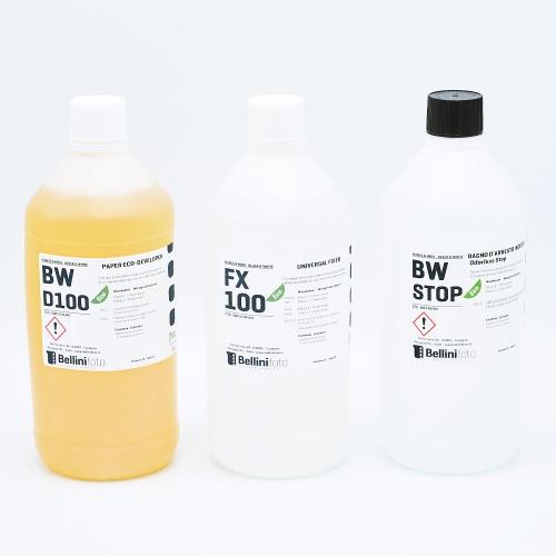 Bellini Eco Starter Kit pour Développement Papier Noir et Blanc (Neutre) - 1L