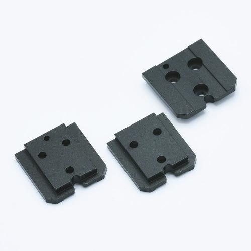 Aluminium Shoe Mount Set voor KEKS EM-01 Lichtmeter - Zwart