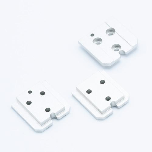 Aluminium Shoe Mount Set pour KEKS EM-01 Posemètre - Silver