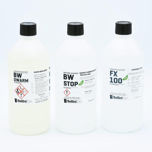 Bellini Starter Kit pour Développement Papier Noir et Blanc (Tons Chauds) - 1L