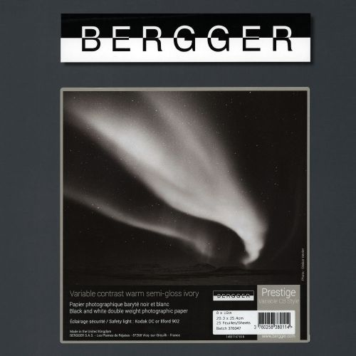 Bergger 50,8x61 cm - SEMI-BRILLANT - 25 FEUILLES - Prestige Variable CB Style VCCBS-506025