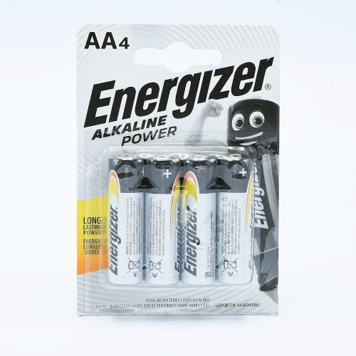Energizer AA Alkaline Power Battery (9V) - 4 pcs