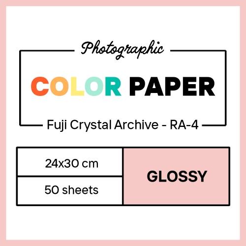 Fujifilm 24x30 cm - BRILLANT - 50 FEUILLES - Fujicolor Crystal Archive