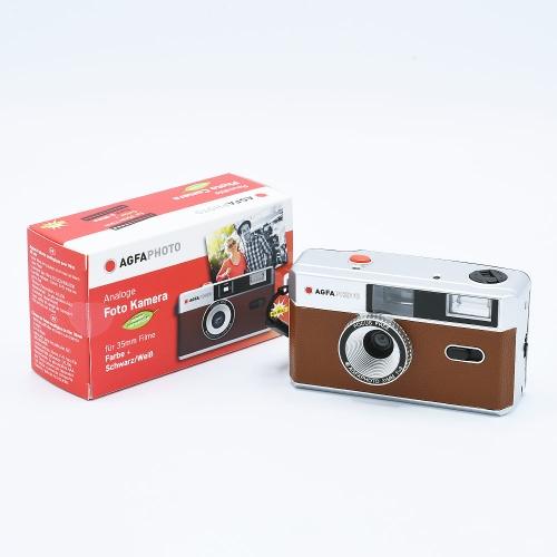 AgfaPhoto Analogue 35mm Photo Camera (Reusable) - Brown
