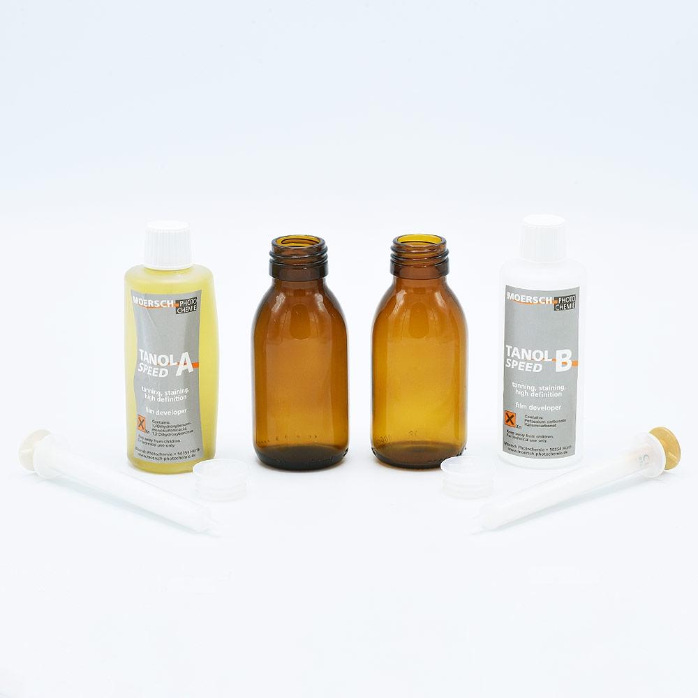 Moersch Tanol Speed 200 Filmontwikkelaar - (2x100ml) + Glazen Flesjes