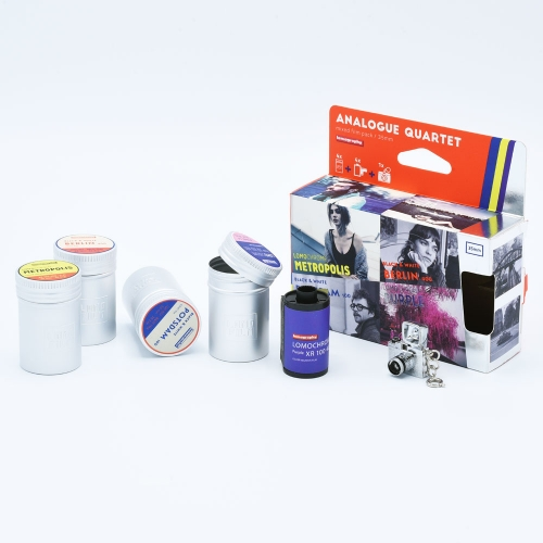 Lomo Analogue Quartet - Purple-Metropolis Potsdam-Berlin 35mm Film / 4-pack